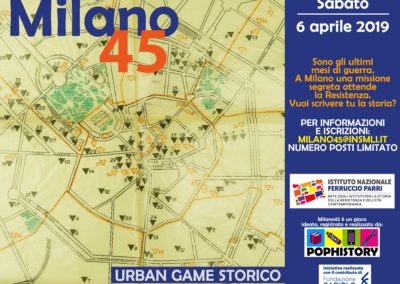 Milano45. Il primo urban game di PopHistory a Milano